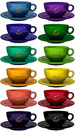 farbige kaffeetassen kaffeebecher bedrucken. Black Bedroom Furniture Sets. Home Design Ideas